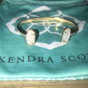 Kendra Scott Elton bracelet in white drusy